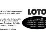 Match au loto du FC Helvétia