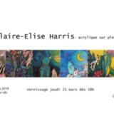 Claire-Elise Harris, Acrylique sur plexiglas