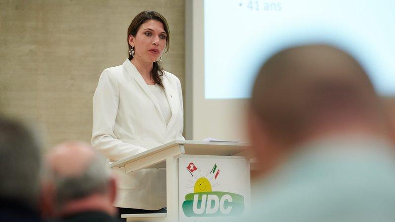 La députée Olga Barben a été mise sur le gril lors de l'assemblée de l'UDC neuchâteloise le 13 mars.