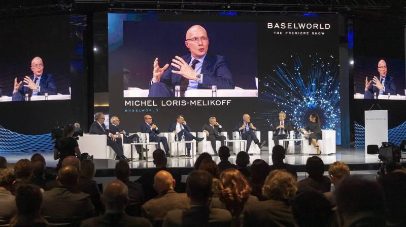 Michel Loris-Melikoff, directeur de Baselworld, lors de la conférence de presse d'ouverture de Baselworld 2019.
