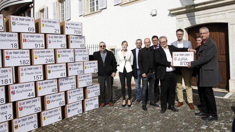 8023 signatures pour des plaques moins chères dans le Jura