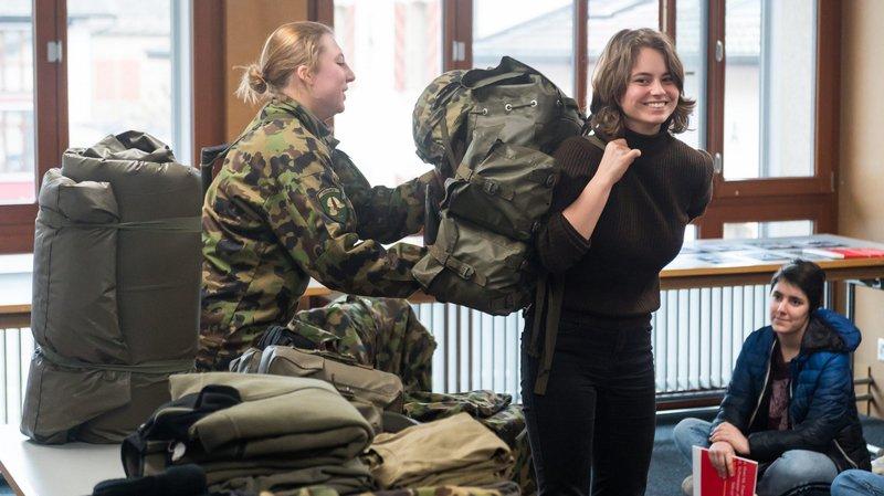 Des Neuchâteloises très attirées par l'armée