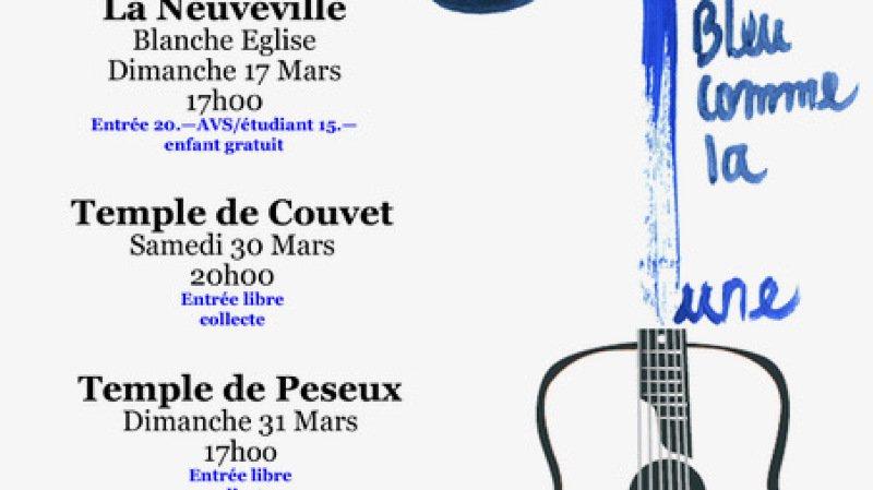 Bleu comme la lune en concert, ensemble vocal