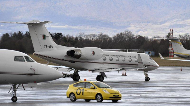 L'avion privé de type Gulfstream 4SP appartenant au gouvernement d'Alger avait atterri dimanche matin vers 09h45 sur le tarmac de l'aéroport de Genève.