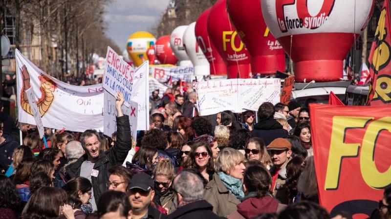 France: les syndicats se mobilisent après avoir été dépassés par les gilets jaunes ces derniers mois