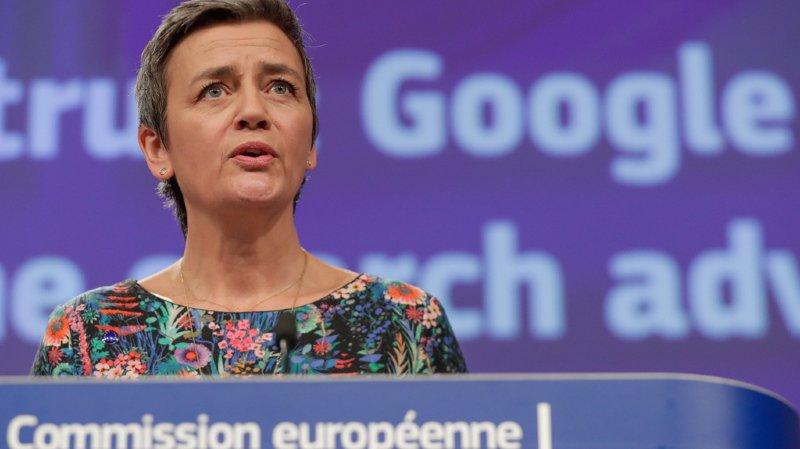 La commissaire européenne à la concurrence, la Danoise Margrethe Vestager, a dévoilé le montant de l'amende ce mercredi.