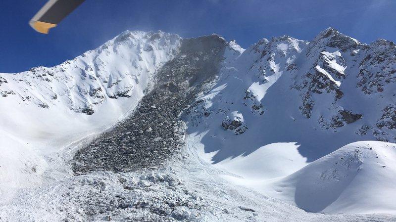 Grisons: un glissement de terrain provoque une avalanche sur le Flüela Wisshorn