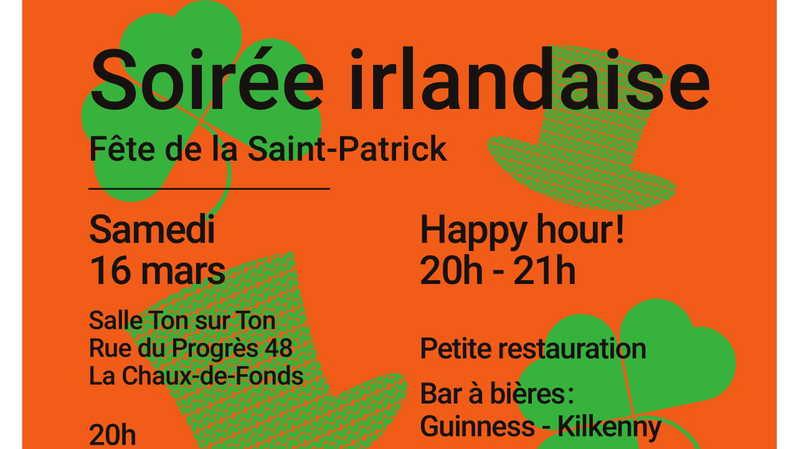 Soirée Irlandaise Fête de la St.Patrick