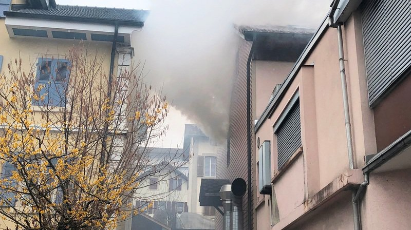 L'appartement a été fortement endommagé.