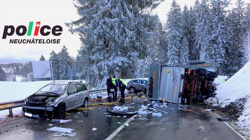 Un grave accident s'est produit entre La Chaux-de-Fonds et La Cibourg ce mercredi matin.