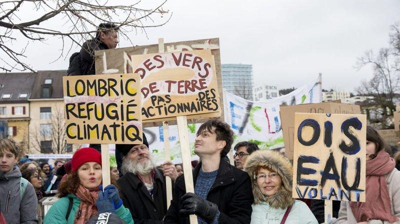 Les Neuchâtelois en grève pour le climat