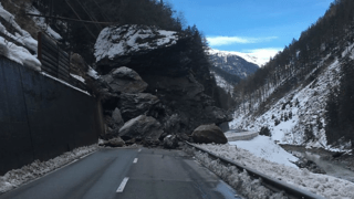 Grisons: un éboulement monstre coupe depuis samedi Samnaun du reste de la Suisse