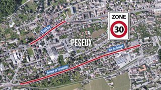 La traversée de Peseux devrait passer à 30km/h