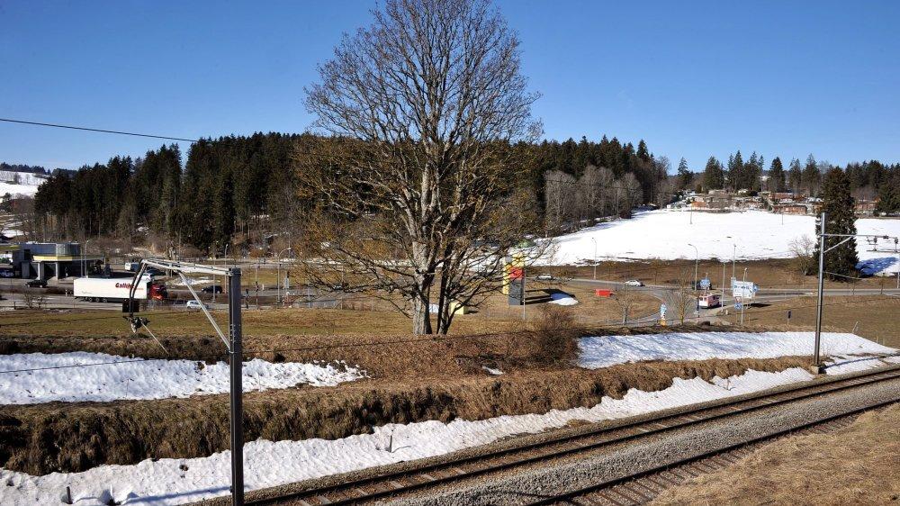 La ligne ferroviaire sera inutilisée pendant quelques mois. Archives: Richard Leuenberger.