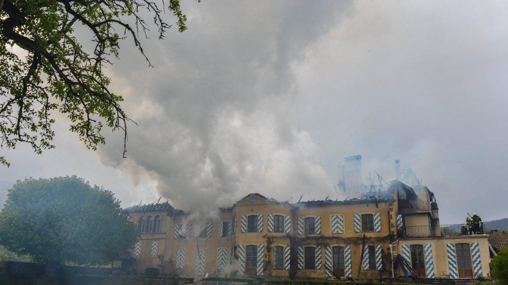 Le château de Trois-Rods avait été victime d'un incendie en 2014.