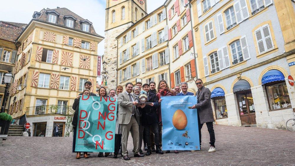 Artistes, politiciens et commerçants œuvrent main dans la main pour célébrer dignement les 40 ans de la zone piétonne de Neuchâtel.