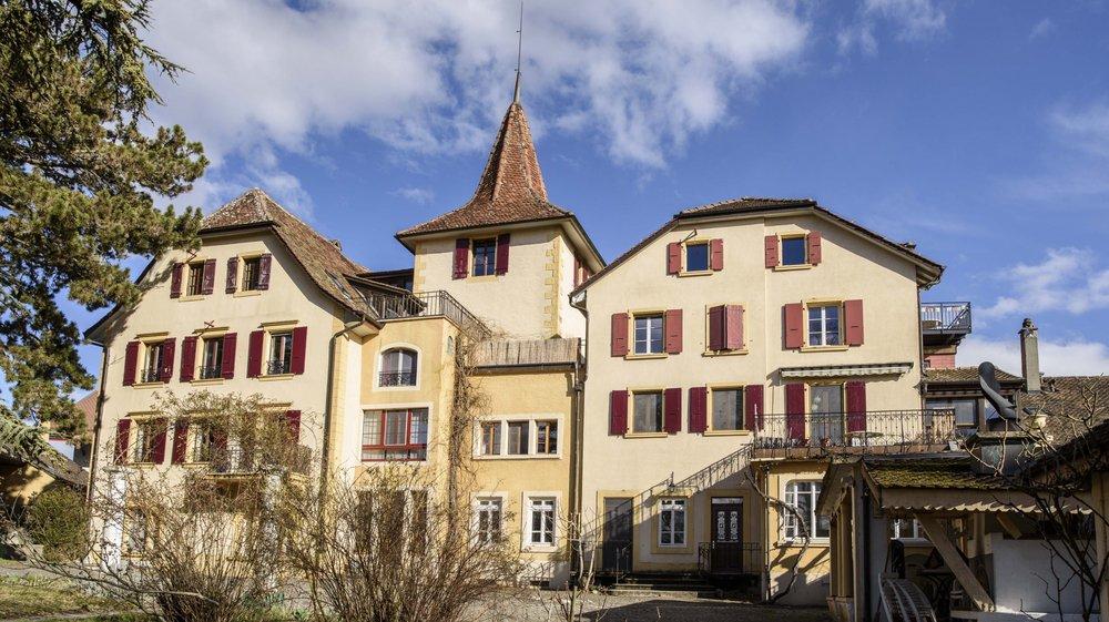 Corcelles-sur-Chavornay, jeudi 7 mars 2019, visite d'une coopérative d'habitant qui a élu domicile à la fin des année 70 dans un château, plus précisément au château de Corcelles-sur-Chavornay,le château, photos Cédric Sandoz