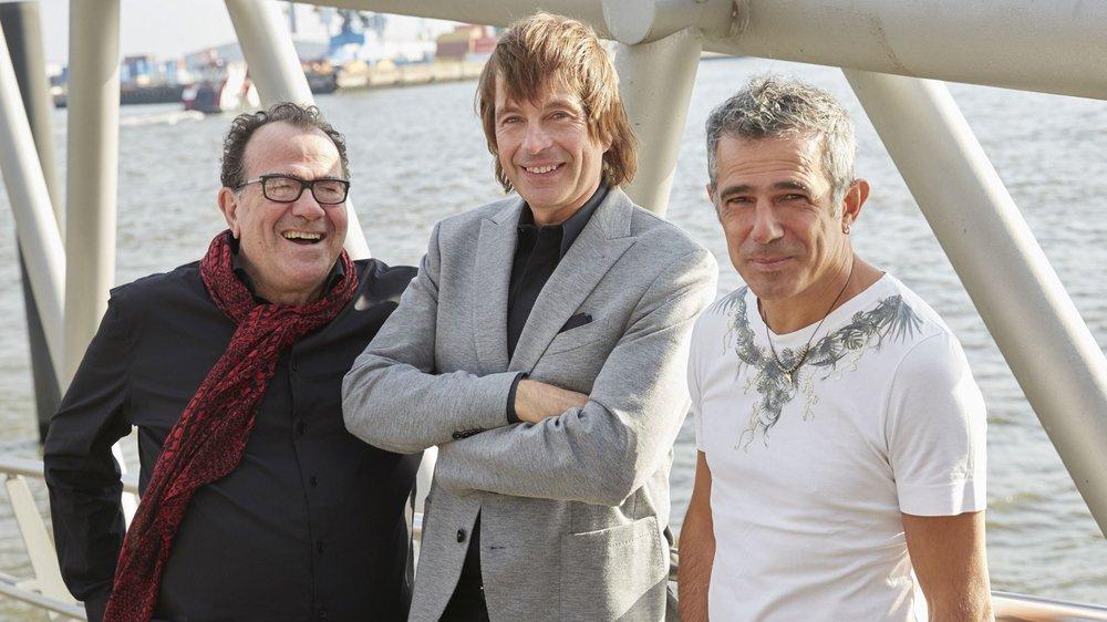 Richard Galliano avec ses deux amis Jan Lundgren et Paolo Fresu (de g. à dr.).