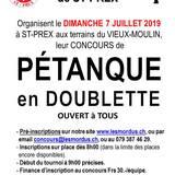 Tournoi de Pétanque en Doublette