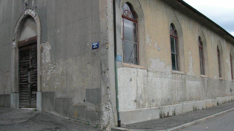 C'est dans ce bâtiment, un ancien manège, que devrait voir le jour la Maison de la musique de Saint-Imier.
