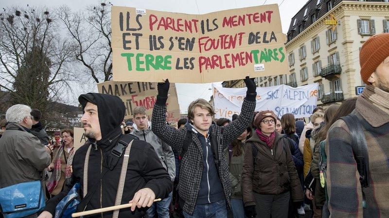 Nouvelle manifestation en faveur du climat à La Chaux-de-Fonds