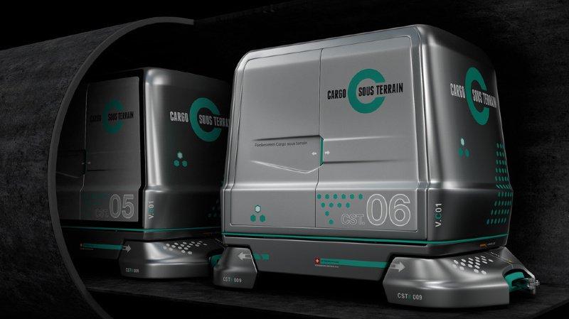 Transports de marchandises: Berne consulte l'économie et le politique sur le projet Cargo sous terrain