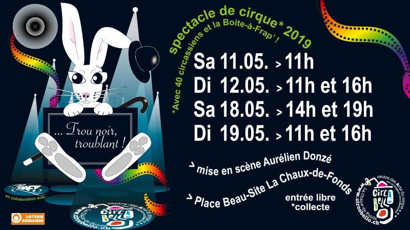 """Spectacle de cirque """"Trou Noir, Troublant"""""""