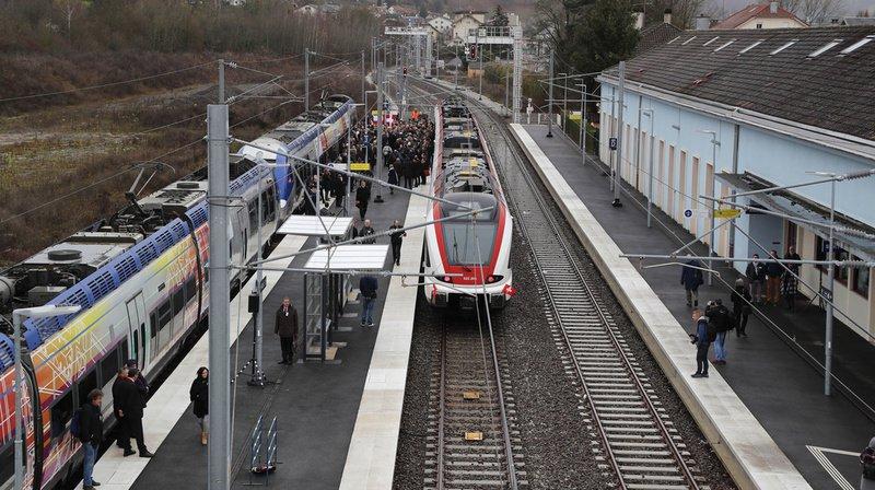 Inauguration de la gare de Delle, le 6 decembre dernier.