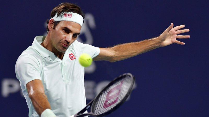 Tennis: Roger Federer s'impose facilement face à Kevin Anderson à Miami