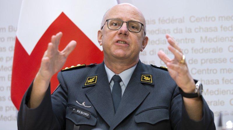 Le chef de l'armée suisse Philippe Rebord démissionne pour raison de santé, après deux ans à son poste