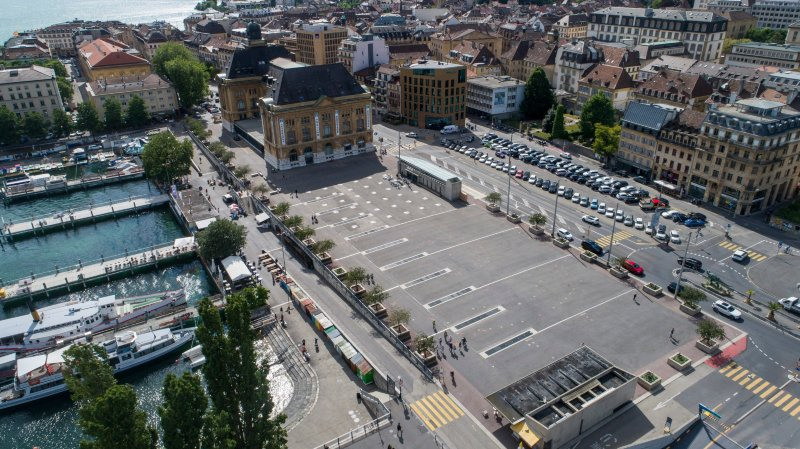C'est de la place du Port que s'élanceront les coureurs pour le prologue et la première étape du Tour de Romandie.