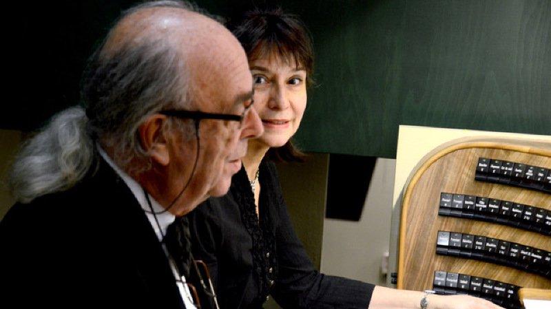 Viviane Loriaut et Guy Bovet, orgue à 4 mains