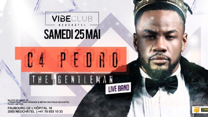 C4 Pedro la star de l'Angola en live au Vibe club