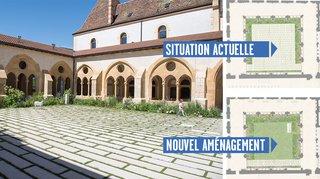 Pourquoi les dalles vont presque disparaître du cloître de la collégiale de Neuchâtel