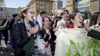 Manifestation en faveur du climat à La Chaux-de-Fonds
