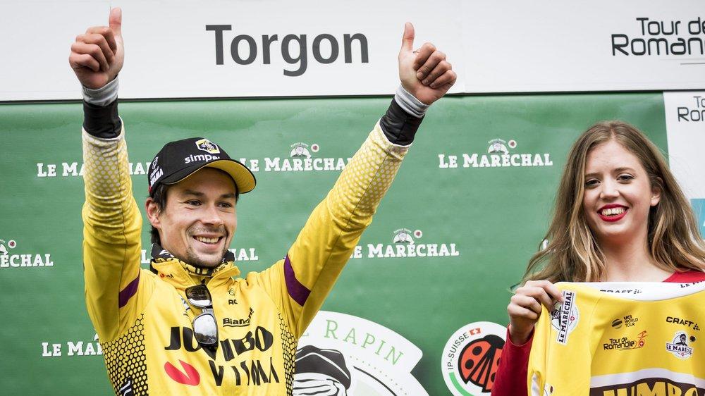 Primoz Roglic a remporté sa deuxième victoire d'étape sur ce Tour de Romandie.