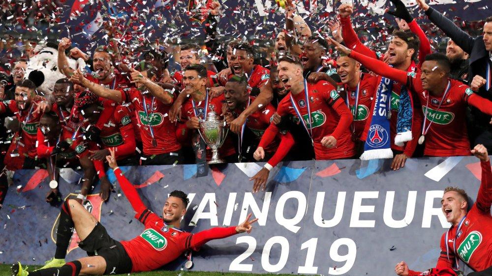 Les Bretons du Stade rennais n'avaient pas remporté la Coupe de France depuis 1971.