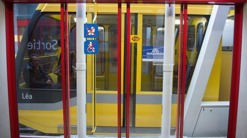 La station inférieure du Fun'ambule, à Neuchâtel.