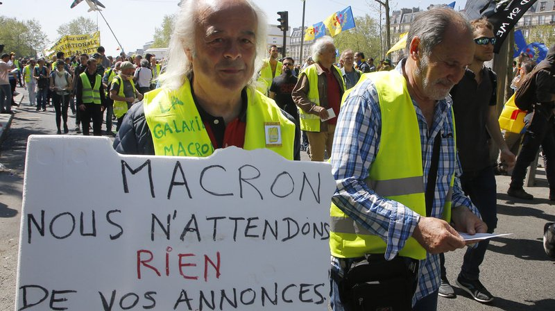 Avant même le discours de Macron, certains «Gilets jaunes» affichaient leur désillusion. Ici à Paris, le 20 avril.