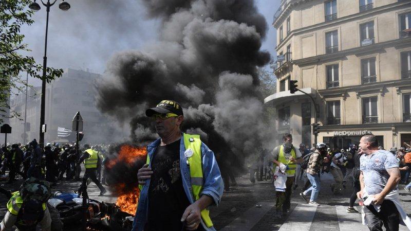France: échauffourées à Paris dans la 23e manifestation des «gilets jaunes»