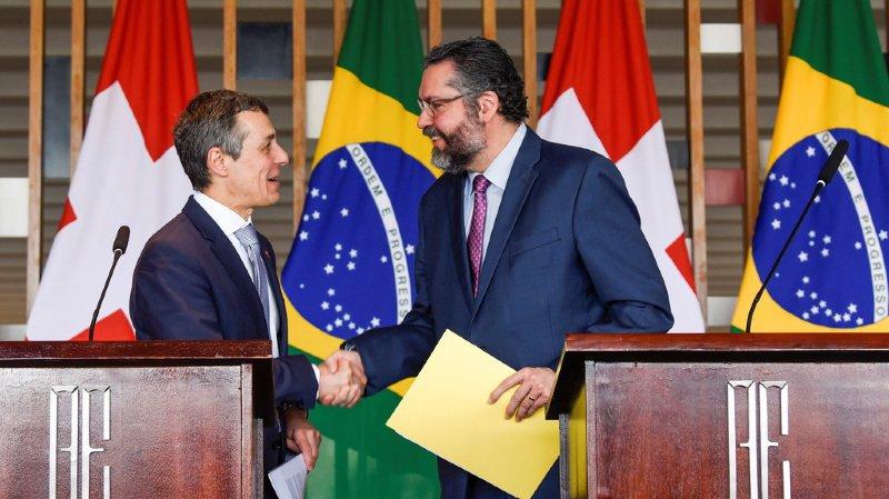 Le conseiller fédéral Ignazio Cassis a rencontré son homologue brésilien Ernesto Araújo.