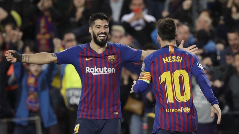 Luis Suarez, muet en Ligue des champions depuis très longtemps, avait ouvert le score pour les Catalans. Messi a aggravé le score à deux reprises.