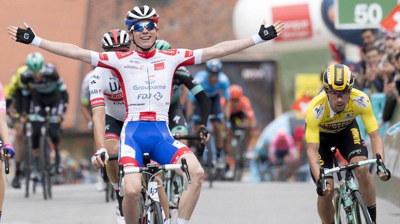Cyclisme - Tour de Romandie: le Français David Gaudu remporte la 3e étape à Romont