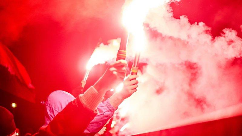 Xamax-Thoune: neuf supporters bernois interpellés après des heurts à Ins