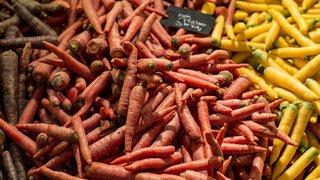 Alimentation: les Suisses ont mangé 8,5 kilos de carottes par personne en 2018