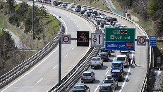 Trafic: 10 kilomètres de bouchons au Gothard pour le retour des vacances de Pâques