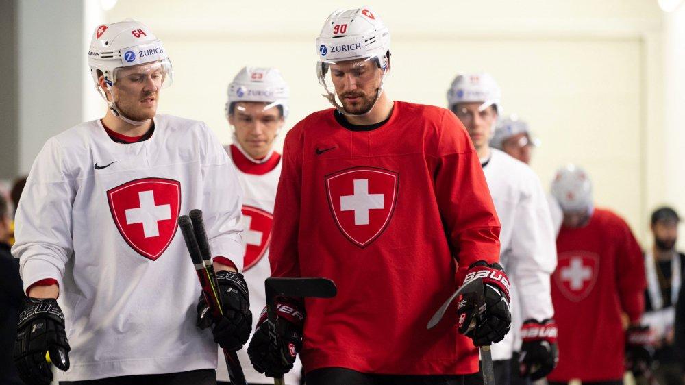 Christoph Bertschy (à gauche) et Roman Josi veulent entamer ce championnat du monde du bon patin.
