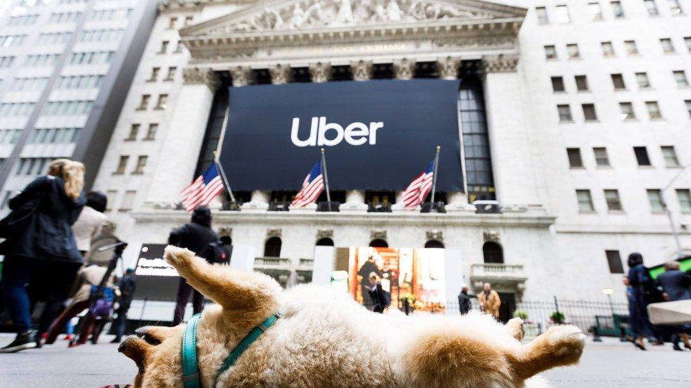 Contrairement à ce que laisse penser l'image, l'excitation était à son comble pour l'entrée d'Uber à Wall Street.
