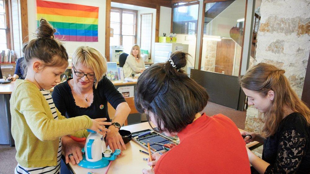 Ce premier un atelier sur les questions d'identité de genre et d'orientation sexuelle a suscité l'intérêt des jeunes lecteurs.