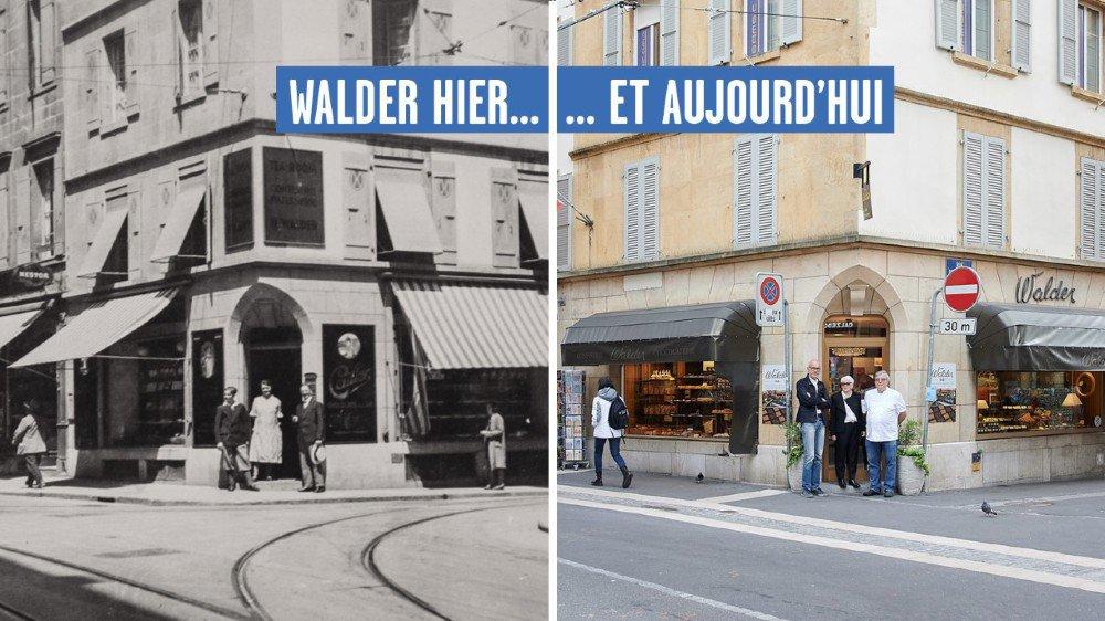Certaines choses ont évolué en 100 ans. Mais pas l'emplacement mythique de la confiserie Walder.